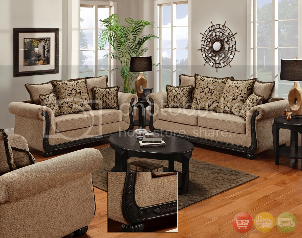 Delray Traditional Sofa & Love Seat Living Room Furniture