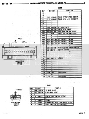 AW4 TCU Wiring Diagram  JeepForum