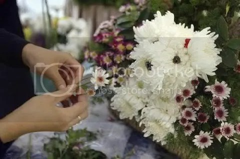 Make Puppy bouquets out of flowers! (1/4)