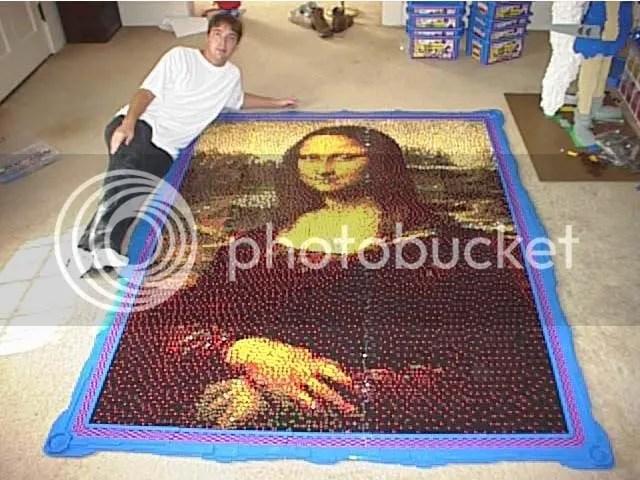LEGO Mona 1 Mona Lisa remake