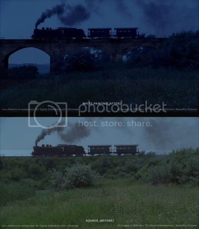 WIW MP Train chasing 170 Matte Paintings de babar