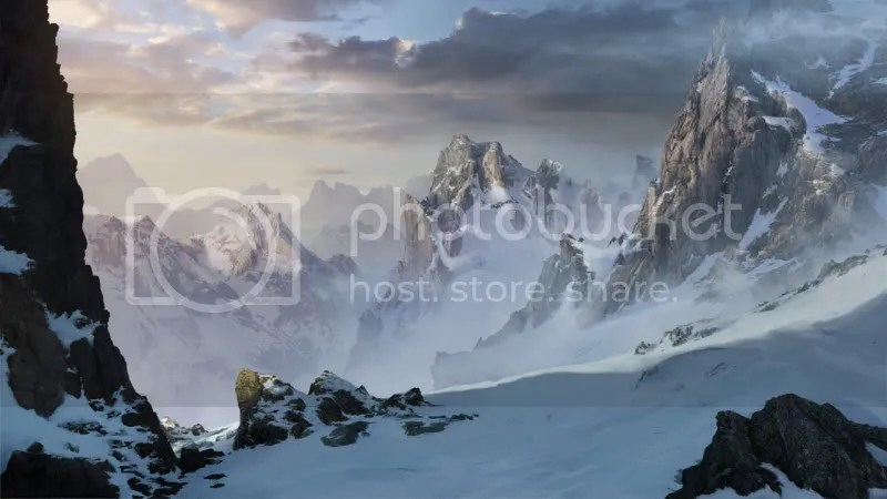 snowy mountains by artek92 d323u5a 170 Matte Paintings de babar