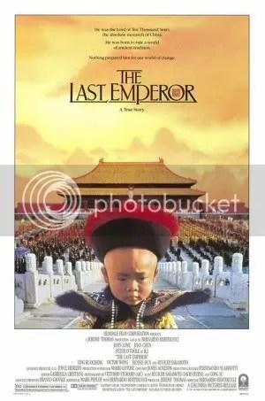 o ultimo imperador poster Os melhores filmes dos anos 80   parte2