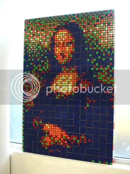 rubik mona lisa Mona Lisa remake