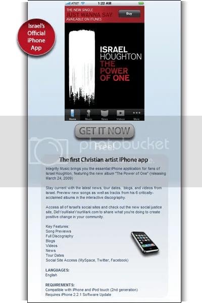 Get the Israel Houghton iPhone App - FREE!