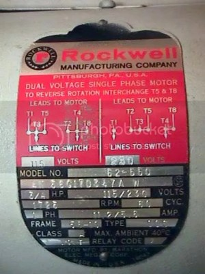 Rockwell Mill Motor PlateHelp please!