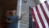 David went and bought a flag to go on our house. Since Dallas is the military man(after his dad of course) he is responsible for furling the flag everyday. photo photobucket-7423-1371604847945_zps966c306d.jpg