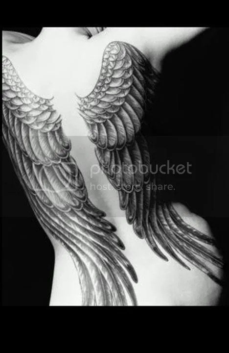Angel-Wing-Tattoos. Fallen angels is another tattoo design which you may