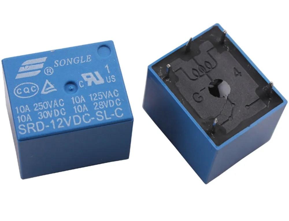 5V / 12V Mini PCB Relay SPDT 5 Pin Packs Of 1, 2, 5 Or 10
