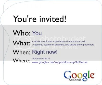 google adsense invitation