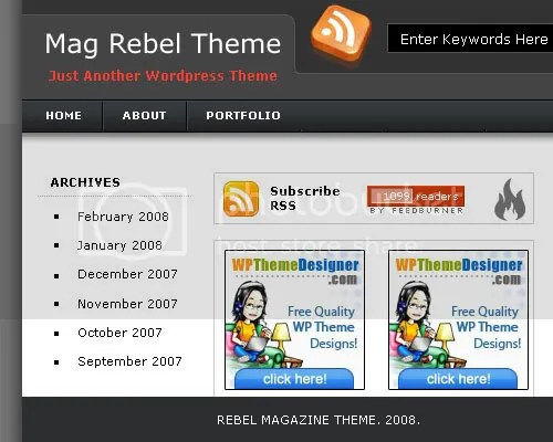 Rabel magazine blogger template