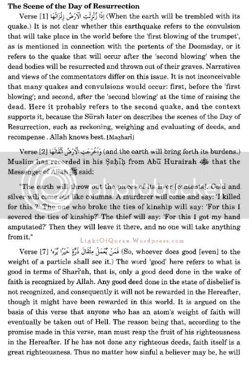 Surah Az-Zilzal 99-02