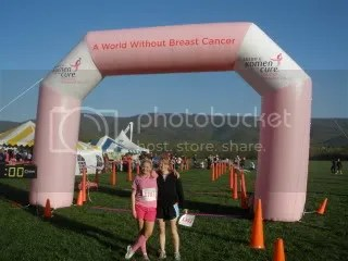 Carly and I posing at the finish.