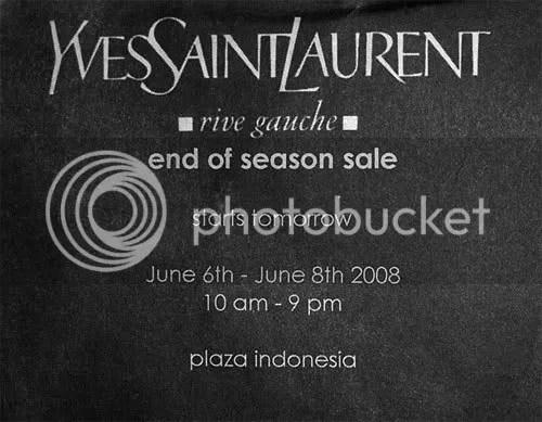 jakarta's yves saint laurent: big sale