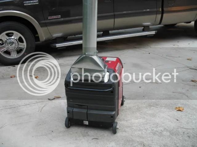generator exhaust stack for honda eu3000is