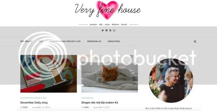 Blog, veryfinehouse.nl
