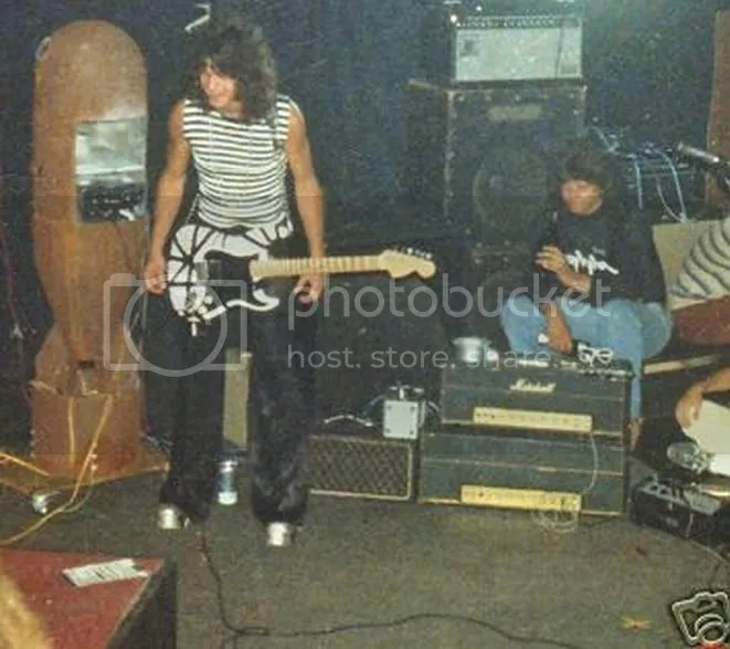Image result for eddie van halen with marshall amp