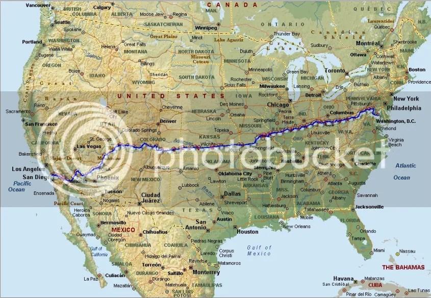 2011 RAAM Route