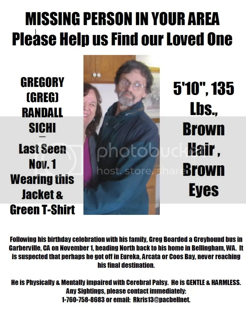 Missing Person-Greg Sichi