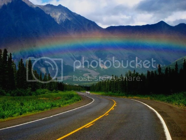 Awesome Beautiful Photography Raindow Mountains Over the Road photo RaInBoWs.jpg