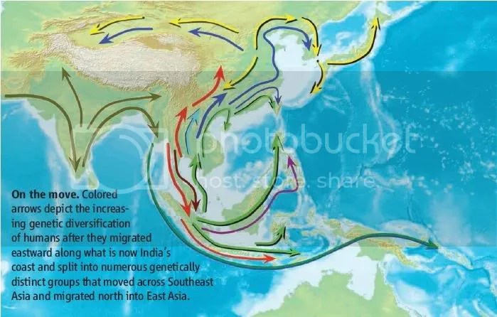 Peta Sebaran Gen di Asia Tenggara, diambil dari L. Jin et. al