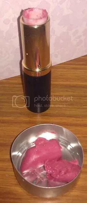 Lipstick out of tube