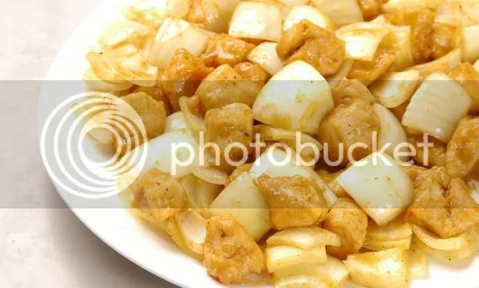frango ao curry, sugestão da China House