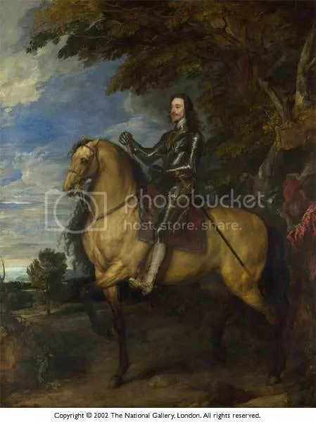 Charles I on Horseback by Van Dycke