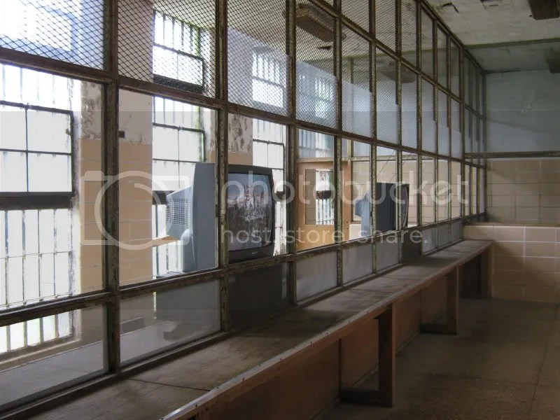 The visiting room at Eastern State Penitentiary