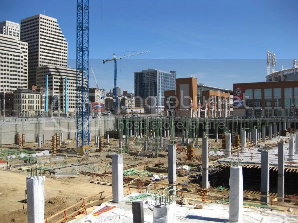 Construction of the Banks and Queen City Square