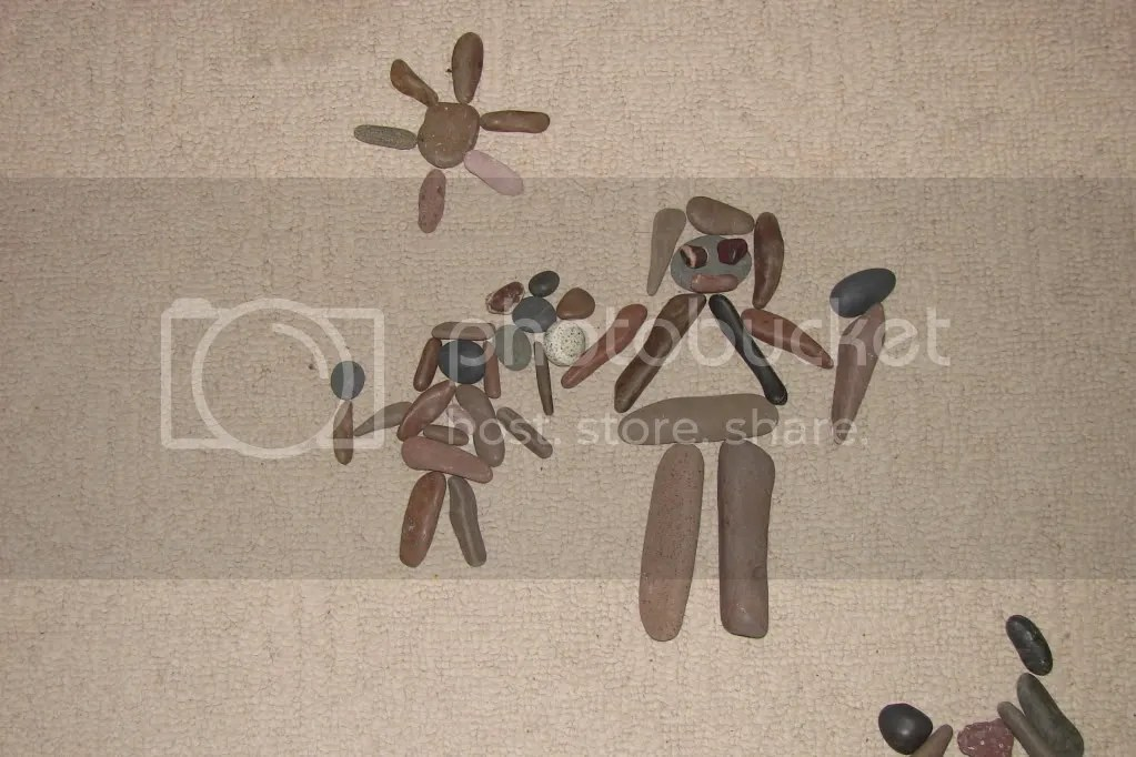 Rock Drawing - Emma & Mommy (2009-10)