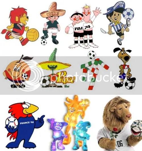 Mascotes da Copa