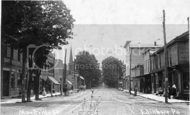 Downtown Edinboro, 1905