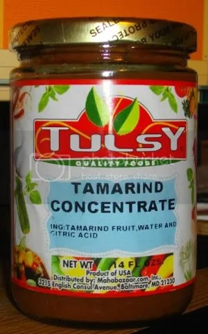 Canned tamarind pulp