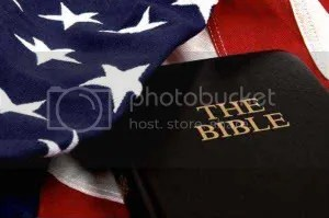 american flag and a bible