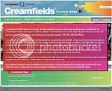 Reprogramacion Creamfields 2009