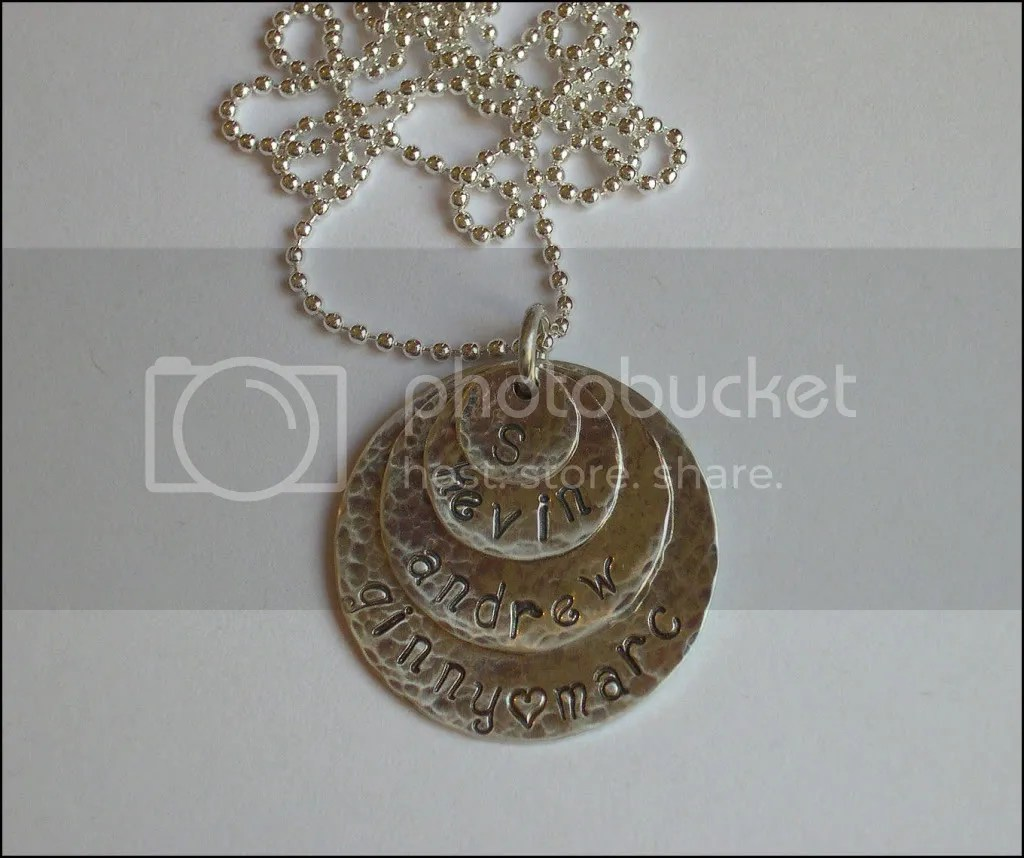 Hammered Family necklace.  The necklace is hammered, not the family. *snort*   $45.00