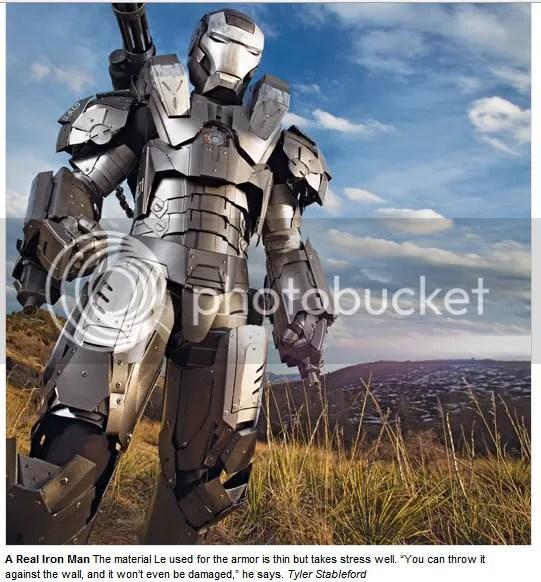 No Hoax, Armor Iron Man Bener-Bener Dibuat!!! (1/2)