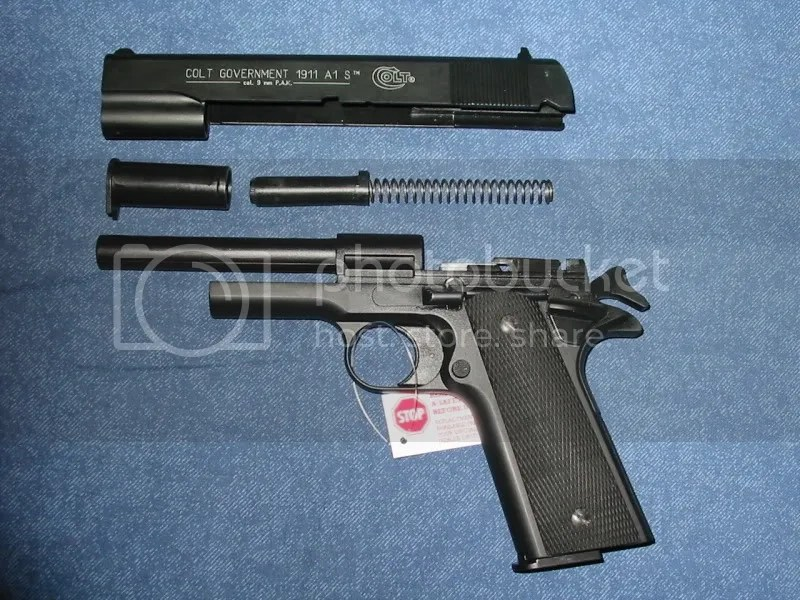 The Colt Government 1911 22lr Field Stripped