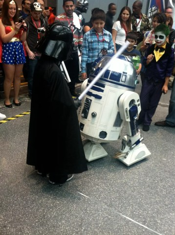 Darth and R2D2