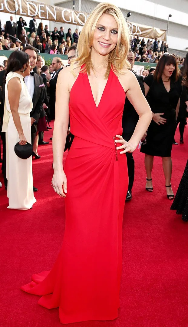 Claire Danes Golden Globes red carpet