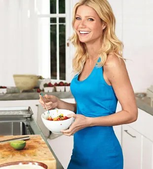 Gwyneth Paltrow cooking