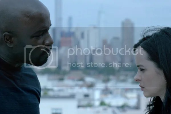 Luke Cage and Jessica Jones in AKA Take a Bloody Number