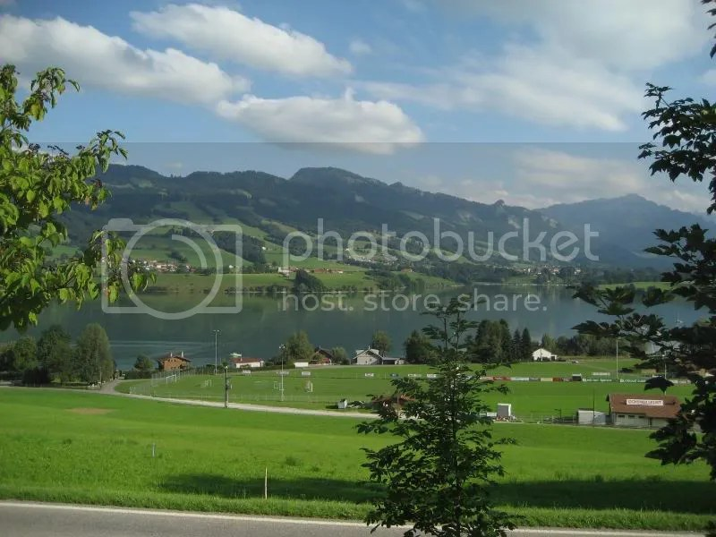 The view from the rest stop in Gruyere