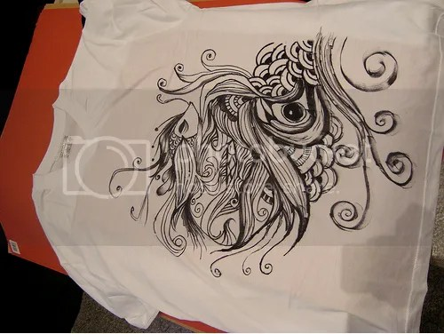 One of the shirt designs created from the flash mob