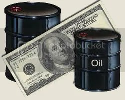 money and barell of oil