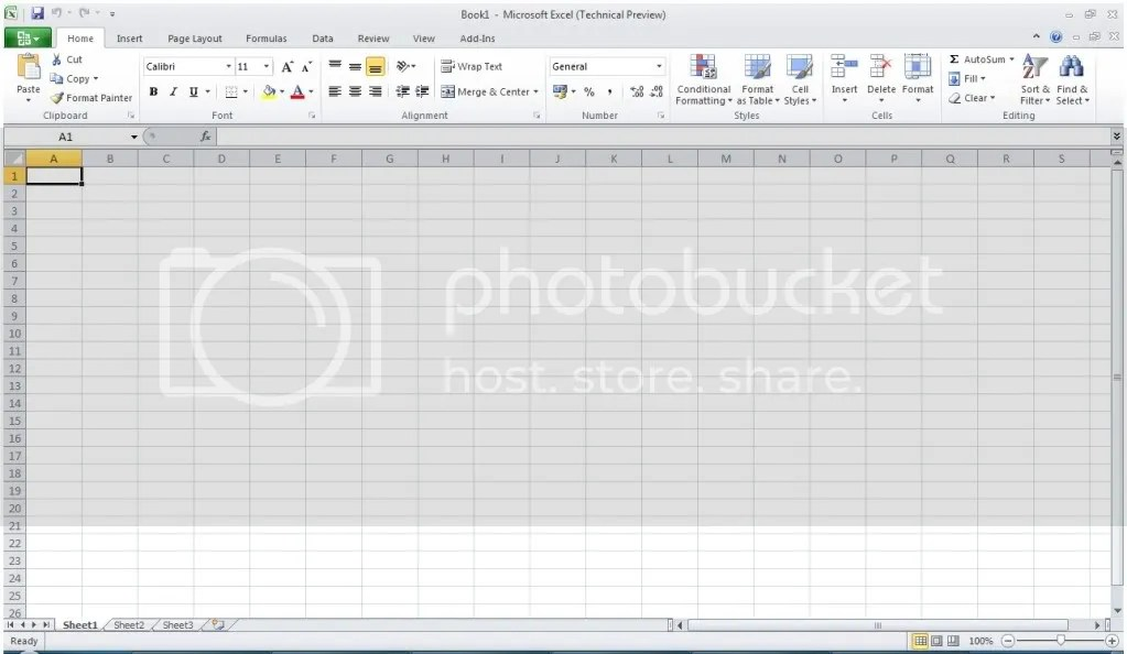 Screenshoot Excel 2010