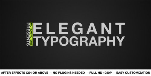 Elegant Typography - After Effects Project (Videohive)