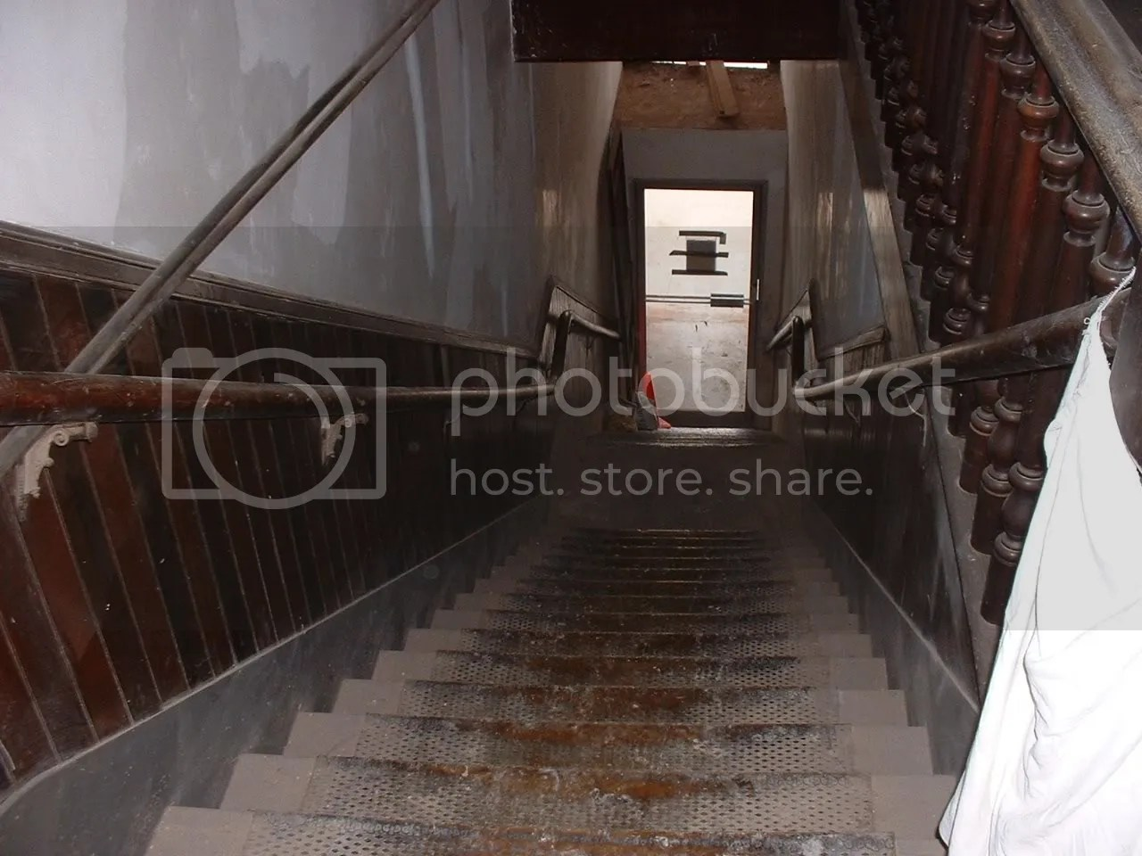 Those steep stairs lead from the front