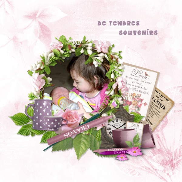 can you paint me some flowers kit by simplette scrap and design page lady rak didou